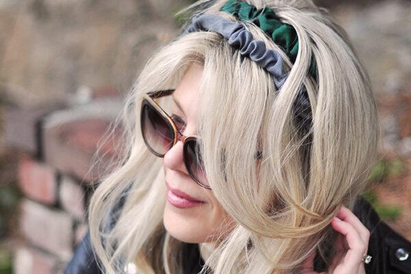 DIY grosgrain scrunshie headband