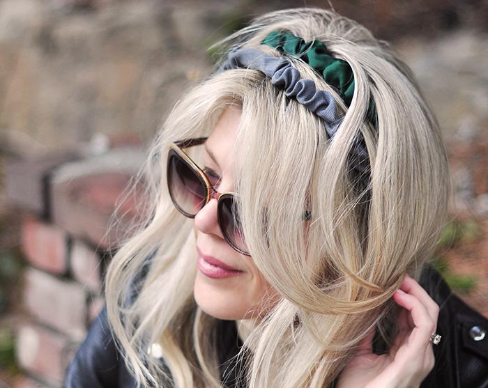 cute rouched grosgrain headbands DIY