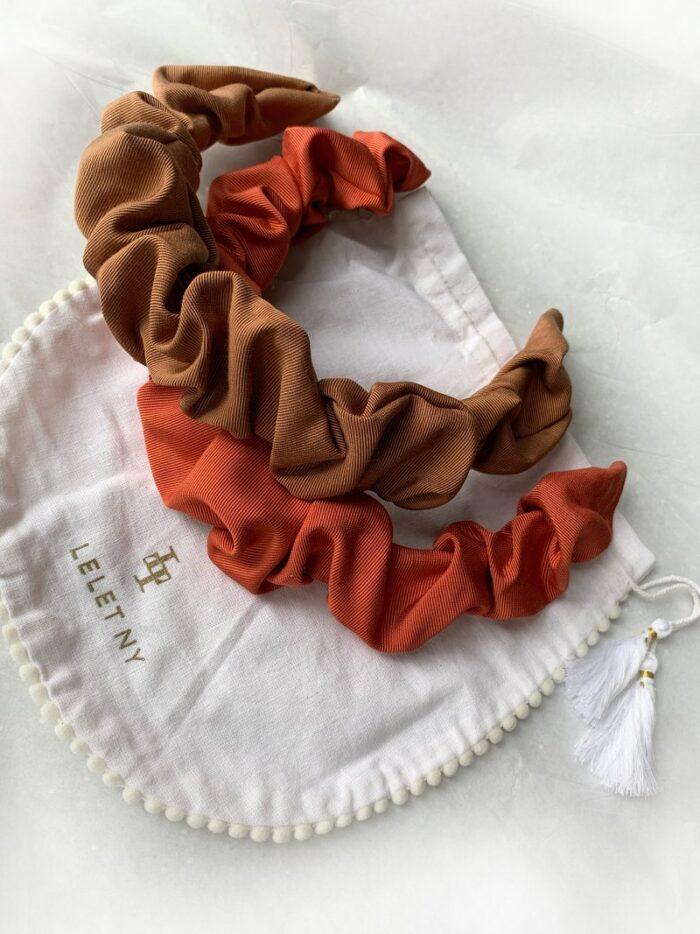 cute big fluffy rouched grosgrain headbands DIY