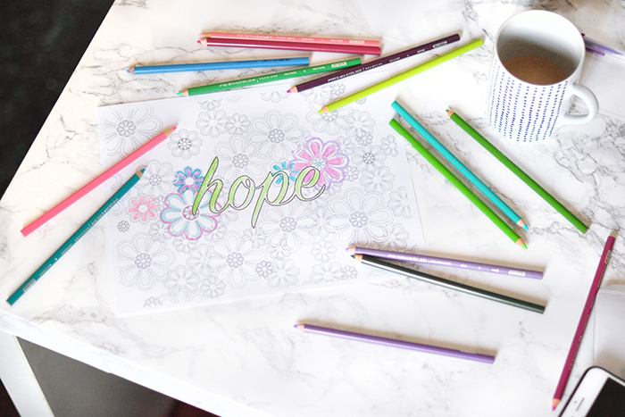 printable download coloring pages with positive messages love and hope