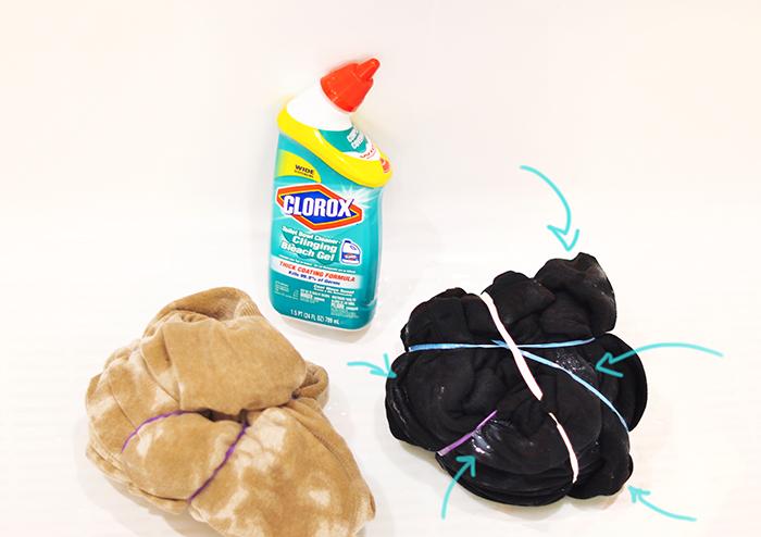 How to DIY a Bleach Tie-Dye a Hoodie Sweatshirt