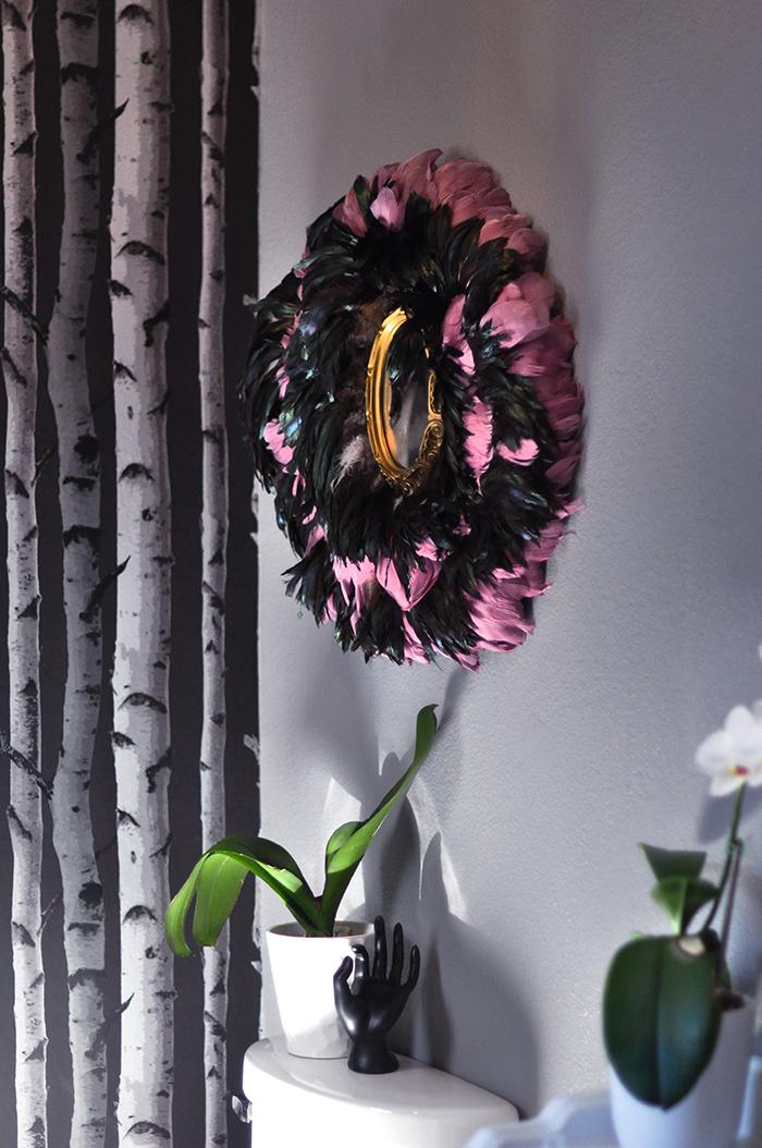 DIY Juju Hat feather wall art