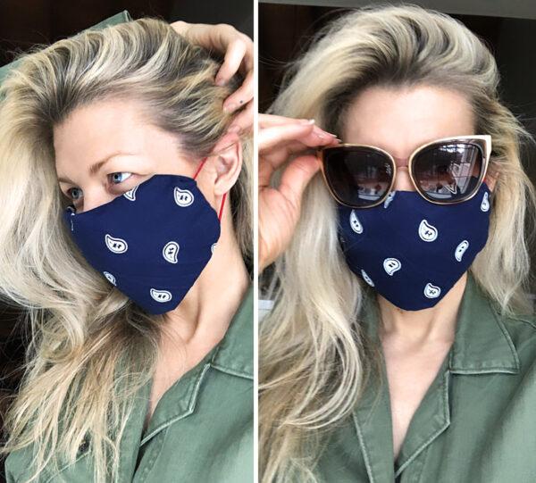 diy bandana face mask no sew with hair elastics