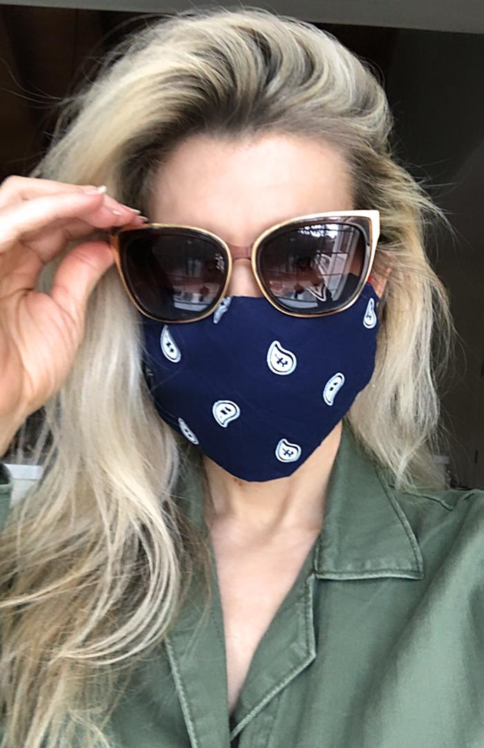 No-Sew DIY Bandana Face Mask to protect from Coronavirus