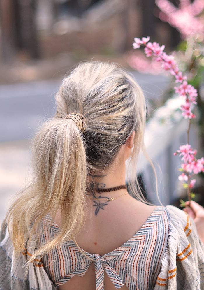 braided ponytail wrap