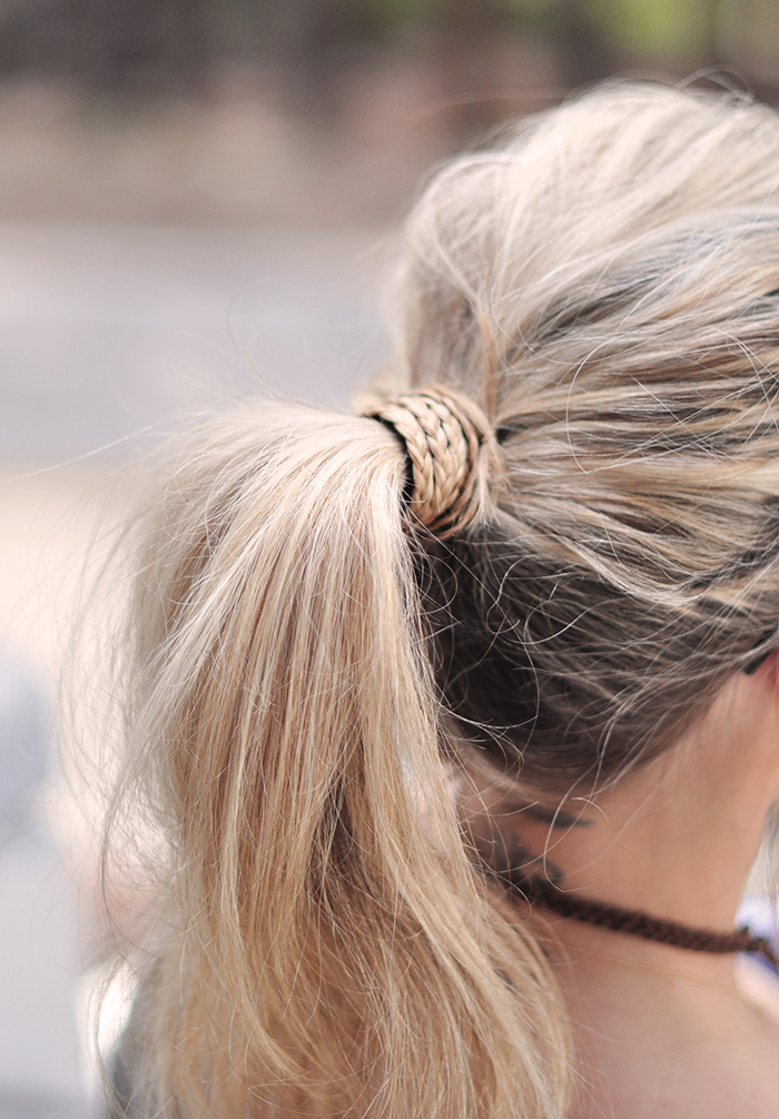 how to wrap your ponytail with braids