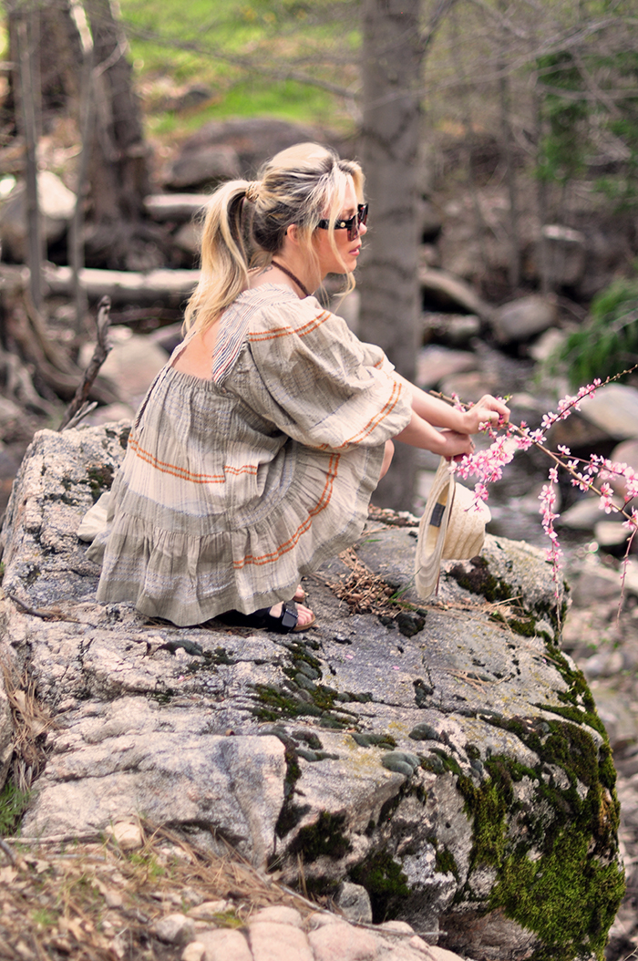 cute boho dresses in the forest in lake arrowhead