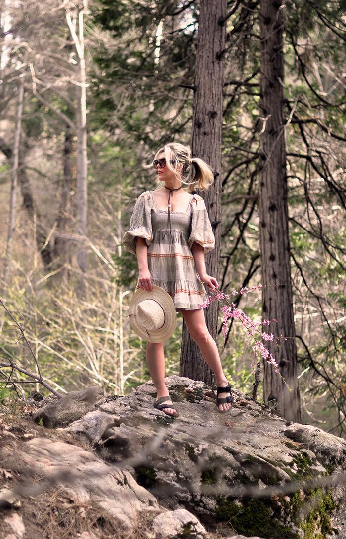 springtime in nature, lake arrowhead stream, quarantine style, spring style, boho style