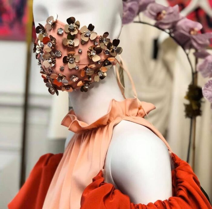 Bejeweled face masks by Christian Siriano - DIY inspiration