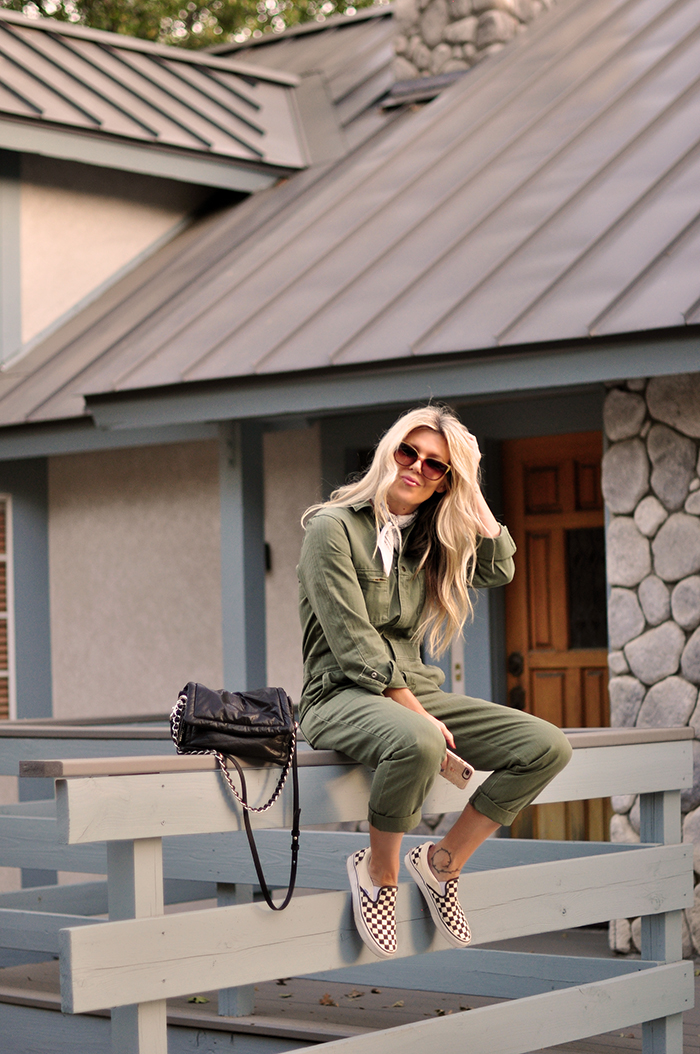 easy fall style in coveralls