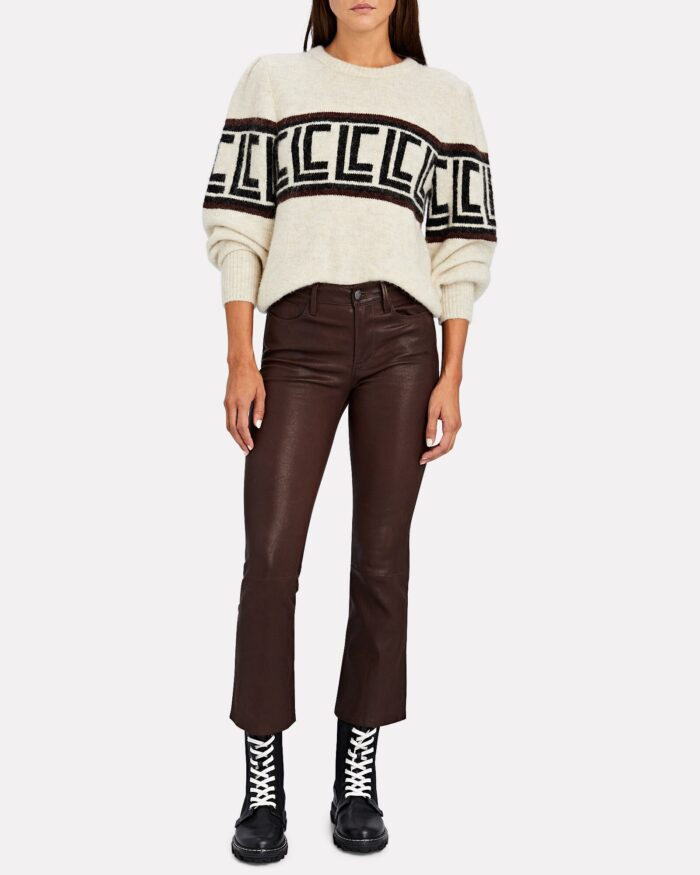 easy fall style, cropped jeans with boots and a cozy cropped sweater