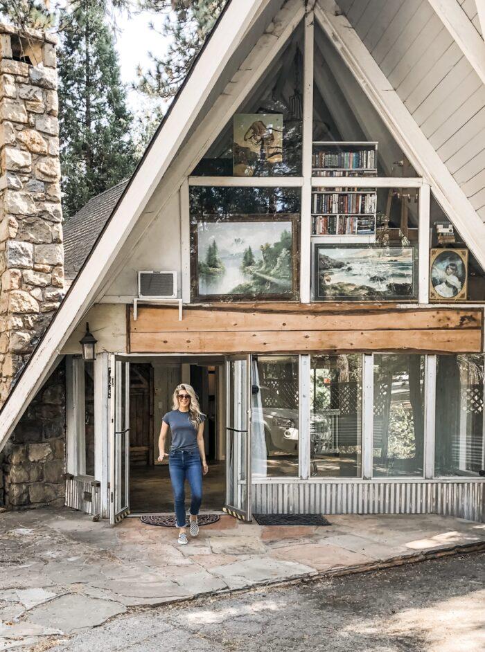 mountain a-frame office in Lake Arrowhead - love Maegan