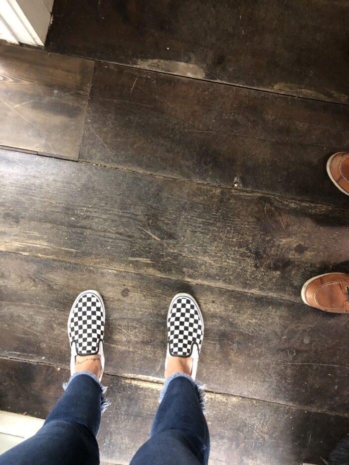 old distressed wood floors