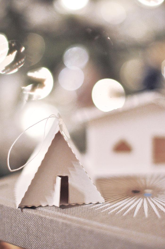 little tiny houses, diy christmas ornaments