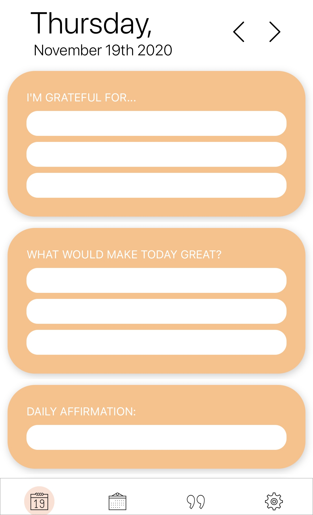 morning gratitude journal app