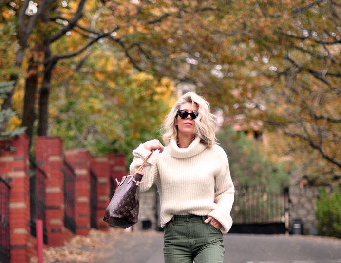 fall colors, fall style, blonde bob