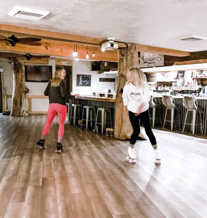 roller skating at dogwood tavern