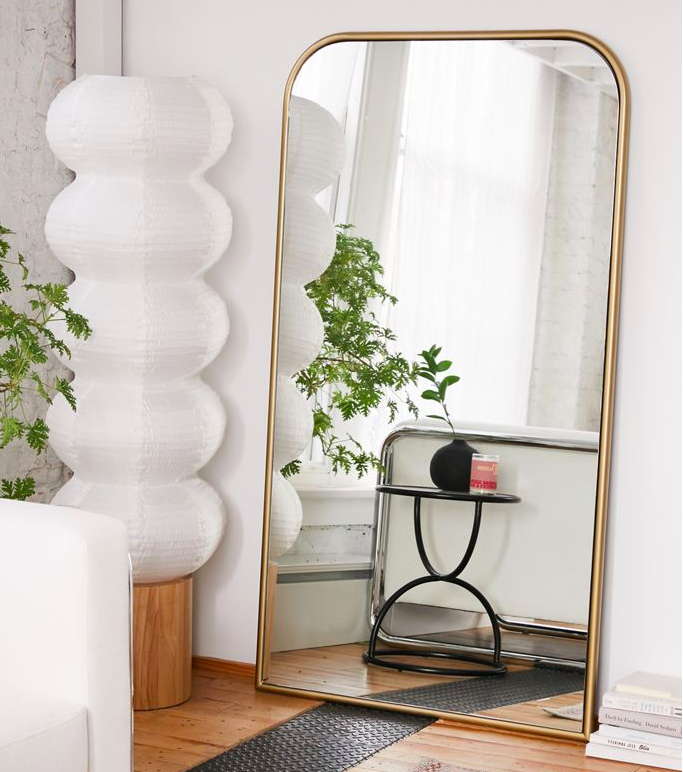 arched floor mirrors