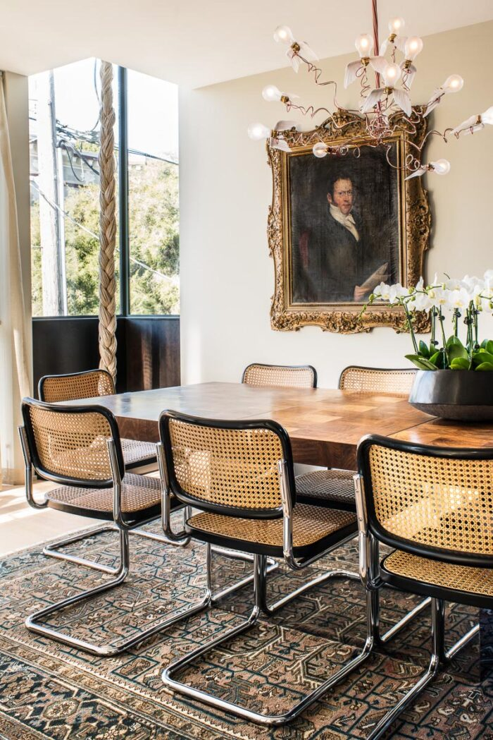 cesca chairs, new woven cane web furniture look, decor trends now