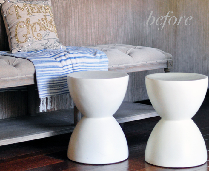 how to make faux stone accent tables with spray paint