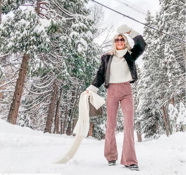 70s look, winter style, lake arrowhead, snow day, winter, snow outfits, life in lake arrowhead