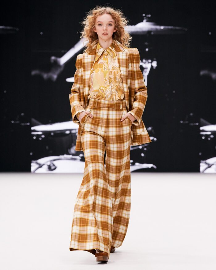 retro boho chic fashion - Zimmermann fall 2021 runway in concert collection