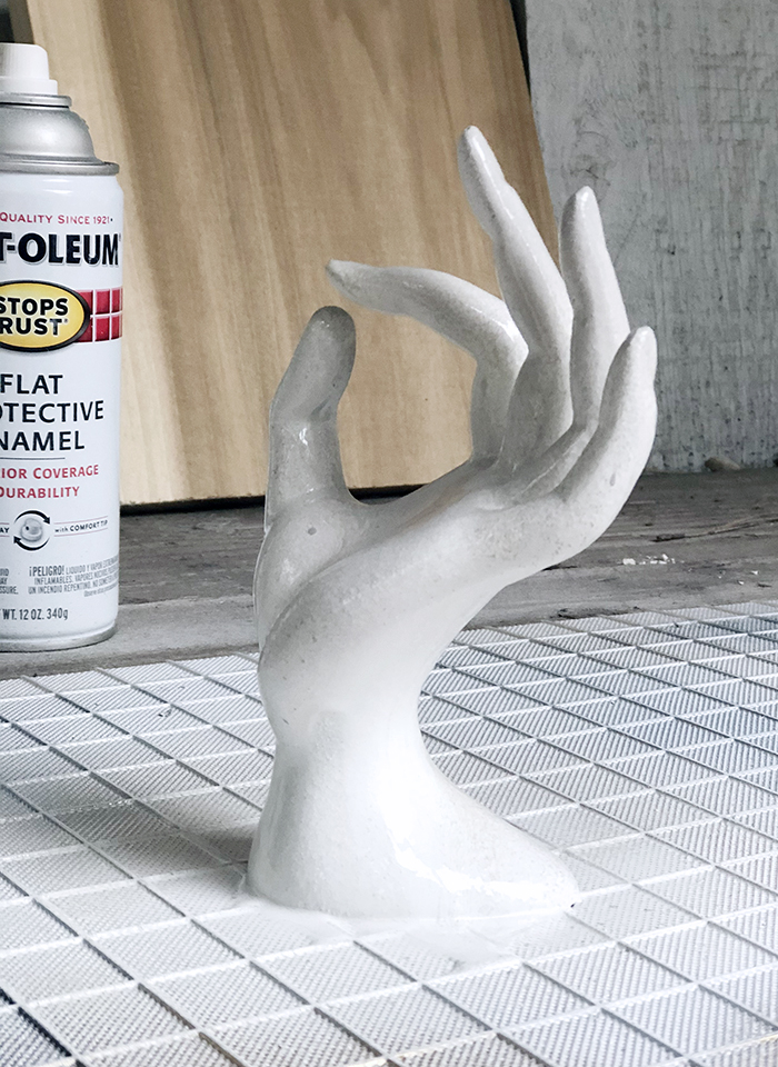 how to create a stone look - DIY Faux Stone Hand Sculpture
