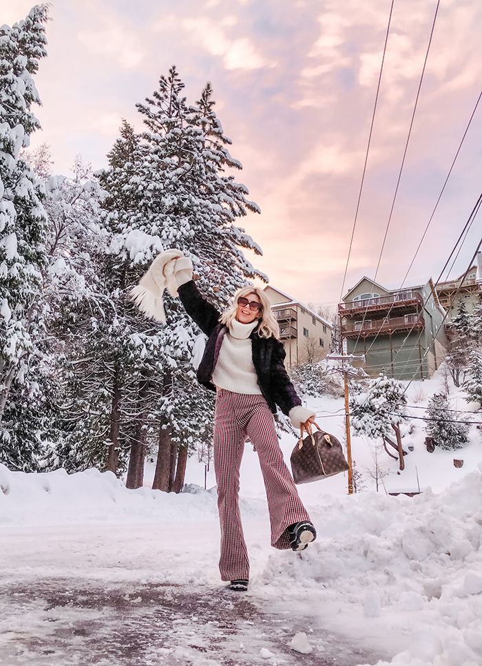 winter in lake arrowhead, life in the mountains, 70s style, snow outfits, winter style, snow days, does it snow in california