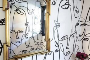 Home Decor // Hand-Painting Walls – Abstract Line Art Faces