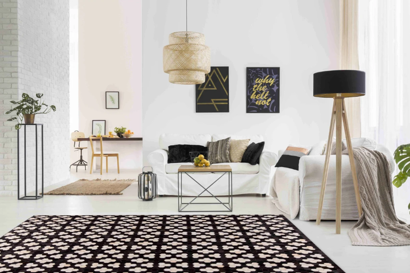 dark patterned rug