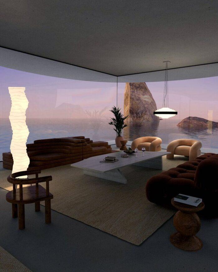 joe mortell 3d art render, amazing spaces, architecture, decor ideas