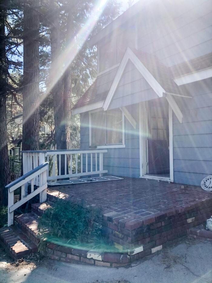 little blue house in Lake Arrowhead