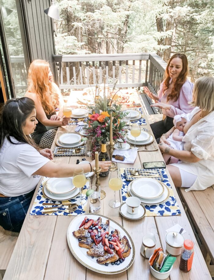 mountain brunch at the modern lodge in lake arrowhead hosted by summer bellessa