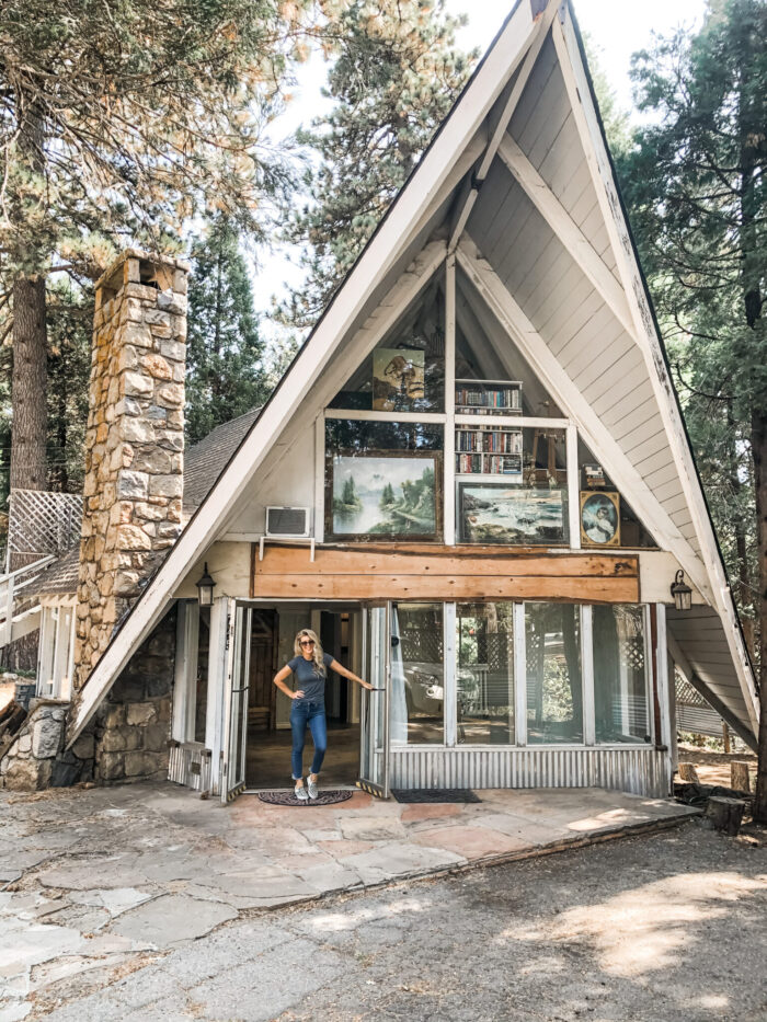 mountain a-frame cabin - love maegan's office