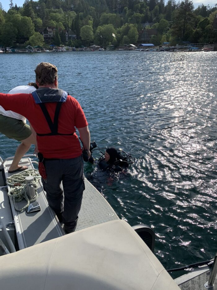 Lake Arrowhead Divers, dropped or lost something in the lake, diver to recover lost items in lake arrowhead