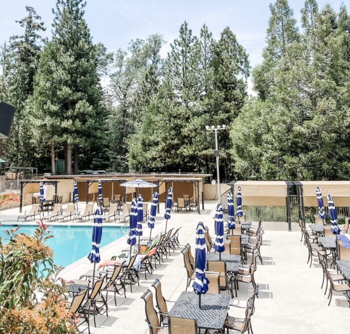 country club pool in lake arrowhead