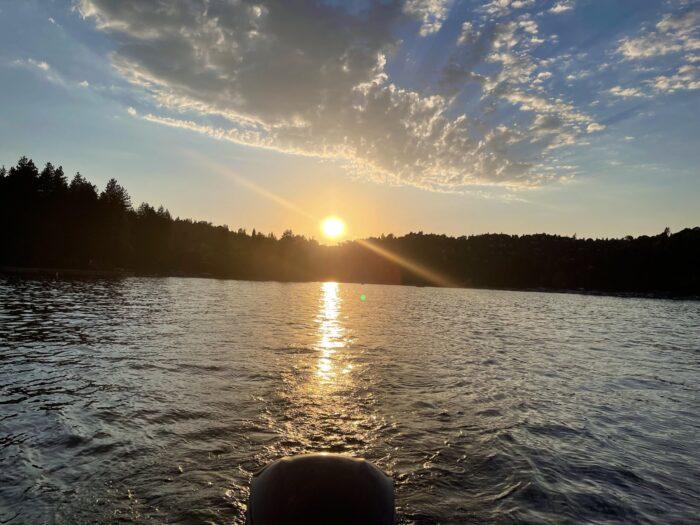 sunset on the lake, lake life, lake arrowhead, pretty sunsets