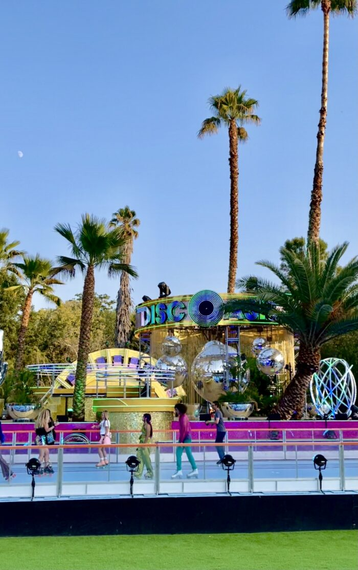 discoasis, disco oasis, botanical gardens, roller rinks, roller skating, pop up roller rink 2021 california, disco night, roller disco