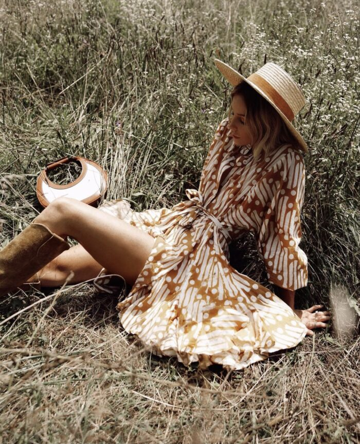 fall outfit ideas, white and brown for fall, white and brown color palette, fall outfit inspiration, white and rust dress, white for fall, rusty brown tones for fall, fall 2021 outfit ideas, fall outfits, mary lawless lee