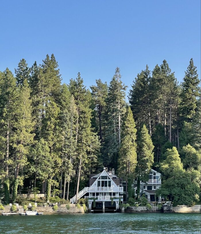 house on the lake in lake arrowhead, house with boat garage, houses in lake arrowhead, what it's like living in lake arrowhead, lake life, boat days