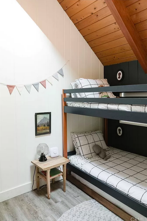 cute bunk beds in mountain house for kids