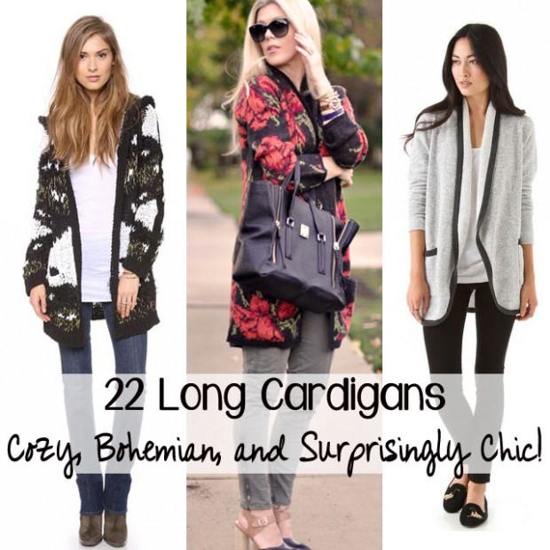 22 long cardigangs