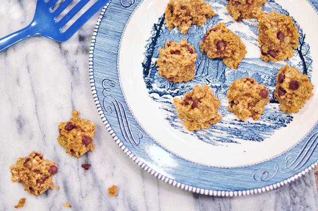 3 ingredient cookies-banana peanut butter oatmeal recipe 1