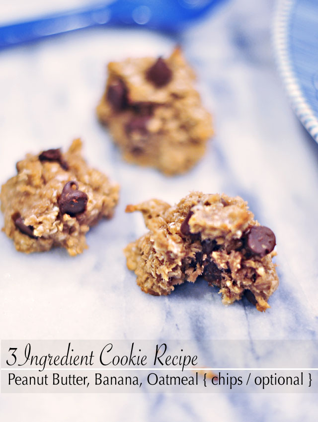 3 ingredient cookies-banana peanut butter oatmeal recipe 6