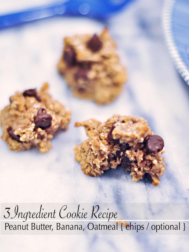 3 ingredient cookies-banana peanut butter oatmeal recipe 6