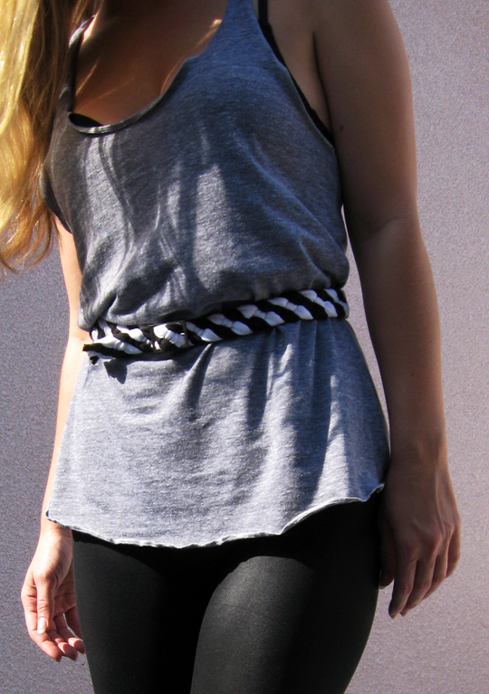 DIY Braided Jersey Belt from an old t-shirt