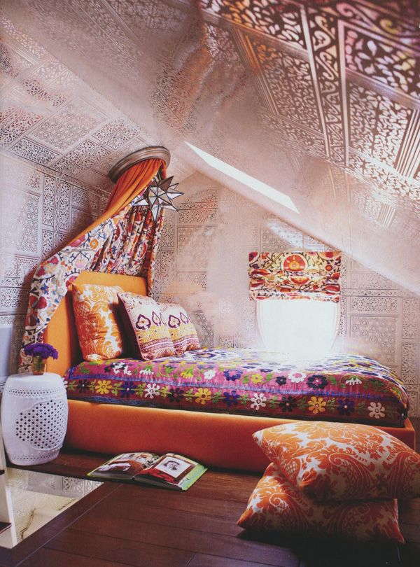 sweet bedroom meditation space