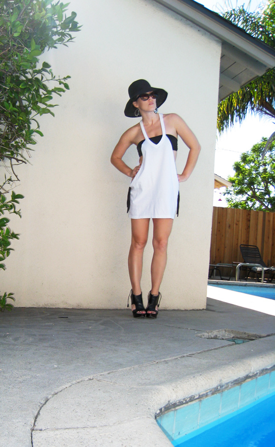 Easy DIY Summer Coverup from an old T-shirt