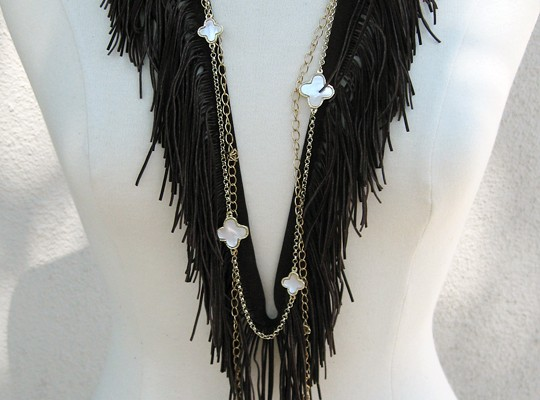 DIY Fringe Bohemian Necklace