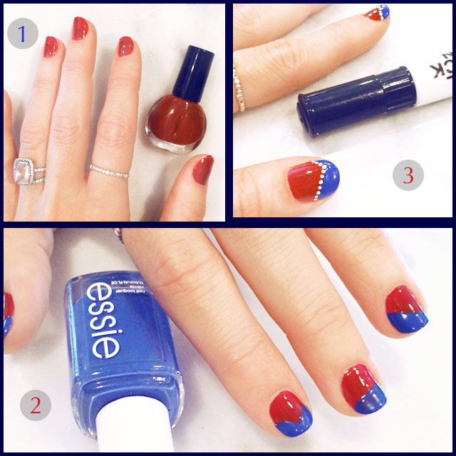 4th of july nails steps